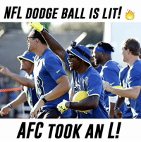 NFC destroyed the AFC in dodge ball at the Pro Bowl! 🔥 probowl2017 zekeforthewin AFC or NFC? 👇🏼: NFL DODGE BALL IS LIT!  AFC TOOK AN L! NFC destroyed the AFC in dodge ball at the Pro Bowl! 🔥 probowl2017 zekeforthewin AFC or NFC? 👇🏼