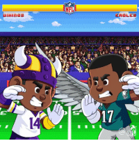 Philadelphia Eagles, Memes, and Nfl: NFL  ENGLES  14  17  NFL Who will represent the NFC in the @SuperBowl?  The @Vikings! #Skol The @Eagles! #FlyEaglesFly  📺: 6:40pm ET on @NFLonFOX #MINvsPHI #NFLPlayoffs https://t.co/kKY513xz6q