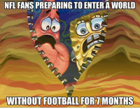 This is going to suck..: NFL FANS PREPARING TO ENTER A WORLD  ONFLMEMES  WITHOUT FOOTBALL FORTMONTHS This is going to suck..