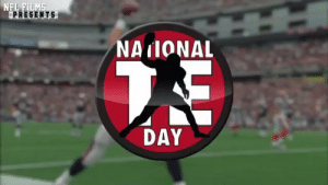The symbol of #NationalTightEndsDay?  One word: Spike.  @gkittle46 @robgronkowski https://t.co/E9VVqnOkXQ: NFL FILMS  PRESENTS  NAIONAL  7E  DAY The symbol of #NationalTightEndsDay?  One word: Spike.  @gkittle46 @robgronkowski https://t.co/E9VVqnOkXQ