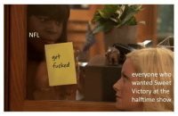 Extremely versatile Parks and Recreation format! Invest for big profit, template below. via /r/MemeEconomy http://bit.ly/2WCZvP7: NFL  get  fucked  everyone who  wanted Sweet  Victory at the  halftime show Extremely versatile Parks and Recreation format! Invest for big profit, template below. via /r/MemeEconomy http://bit.ly/2WCZvP7