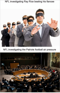Memes, Ray Rice, and Belichick: NFL investigating Ray Rice beating his fiancee  NFL investigating the Patriots football air pressure This sounds about right DeflateGate Patriots Brady Belichick