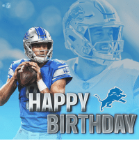 Birthday, Memes, and Nfl: NFL  ioDs  Wilson Let's all wish @Lions QB Matthew Stafford a HAPPY birthday! 🦁🎂 https://t.co/xRa4oHTCd8