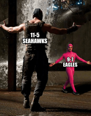 Next weekend's Wild Card matchup... https://t.co/JfX7uss4x5: @NFL_MEMES  11-5  SEAHAWKS  9-7  EAGLES Next weekend's Wild Card matchup... https://t.co/JfX7uss4x5