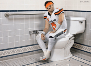 This has to be what Cleveland fans meant when they said Baker Mayfield was bringing to Browns to the Super Bowl... https://t.co/nNwfahD6dU: @NFL_MEMES  LEVELAND  BRDWNS This has to be what Cleveland fans meant when they said Baker Mayfield was bringing to Browns to the Super Bowl... https://t.co/nNwfahD6dU
