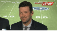 Football, Memes, and Nfl: @NFL MEMES  PORTSCENTER  RANEWS BREAKING: Tony Romo expected to be out 4-6 weeks after suffering sore throat in broadcasting debut https://t.co/lEe7qwtJlu