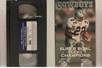 VHS tapes tend to deteriorate after about 20 years, which means right about now, Cowboys fans will be unable to watch their last Super Bowl win https://t.co/RUGfmfyXAM: @NFL MEMES  SUPER BOWL  XXVII  CHAMPIONS  FLMS VHS tapes tend to deteriorate after about 20 years, which means right about now, Cowboys fans will be unable to watch their last Super Bowl win https://t.co/RUGfmfyXAM