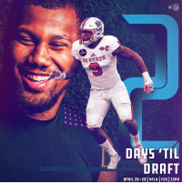 Raise your hand if you're ready for the @NFLDraft. 🙋♂️🙋  2018 #NFLDraft starts Thursday on NFL Network/FOX/ESPN https://t.co/6cv1WnJ7bl: NFL  NC STATE  DRAFT  APRIL 26-28 | NFLN | FOX | ESPN Raise your hand if you're ready for the @NFLDraft. 🙋♂️🙋  2018 #NFLDraft starts Thursday on NFL Network/FOX/ESPN https://t.co/6cv1WnJ7bl