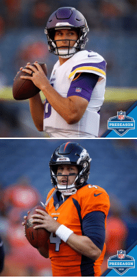 .@KirkCousins8 and the @Vikings take on @casekeenum and the @Broncos.   Coming up NEXT (9pm ET) on @nflnetwork! #MINvsDEN https://t.co/lGtQufd64H: NFL  NFL  PRESEASON  2018   BRONCOS  BRONCOS  NFL  PRESEASON  2018 .@KirkCousins8 and the @Vikings take on @casekeenum and the @Broncos.   Coming up NEXT (9pm ET) on @nflnetwork! #MINvsDEN https://t.co/lGtQufd64H