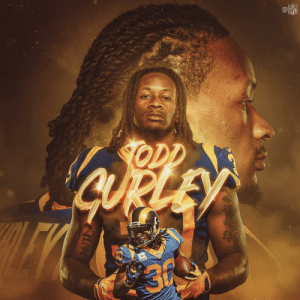 Think about these Todd Gurley numbers on his 25th birthday:  🐏 56 scrimmage TDs over four seasons 🐏 Since 2017, more TDs from scrimmage (40) than any other player 🐏 Third-ever player with back-to-back 1,200+ rushing, 500+ receiving, and 19+ TD seasons  @TG3II | @RamsNFL https://t.co/1imRcB5ZsY: NFL  ODD Think about these Todd Gurley numbers on his 25th birthday:  🐏 56 scrimmage TDs over four seasons 🐏 Since 2017, more TDs from scrimmage (40) than any other player 🐏 Third-ever player with back-to-back 1,200+ rushing, 500+ receiving, and 19+ TD seasons  @TG3II | @RamsNFL https://t.co/1imRcB5ZsY