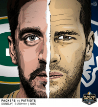 Memes, Nfl, and Patriotic: NFL  PACKERS VS PATRIOTS  SUNDAY, 8:20PMET | NBC Tom Brady vs. @AaronRodgers12. #GoPats vs. #GoPackGo. Is it Sunday night yet?  📺#GBvsNE: Sunday 8:20pm ET on NBC https://t.co/1URhLBC6DA