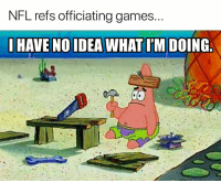 Nfl, Games, and Idea: NFL refs officiating games.  HAVE NO IDEA WHAT I'M DOING