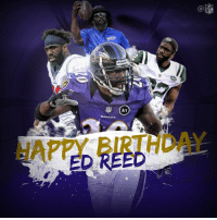 One of the greatest DBs to EVER step on a football field...  Happy Birthday, @TwentyER! 🐐 https://t.co/EQPRuHBMA1: NFL  Riddel  NFL  Art  RAVENS  HAPPY BIRTHDAY  ED REED One of the greatest DBs to EVER step on a football field...  Happy Birthday, @TwentyER! 🐐 https://t.co/EQPRuHBMA1