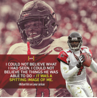 Memes, Michael Vick, and Nfl: NFL  Riddells  ACC  as  I COULD NOT BELIEVE WHAT  I HAD SEEN. I COULD NOT  BELIEVE THE THINGS HE WAS  ABLE TO DO -IT WAS A  SPITTING IMAGE OF ME.  -Michael Vick on Lamar Jackson When @MichaelVick first saw @Lj_era8 play? 💯  More Vick on Lamar Jackson: https://t.co/RWBailGwDz (via @MoveTheSticks) https://t.co/JvPKR0cxv4