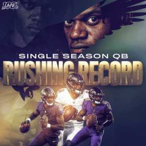 .@Lj_era8 has now broken @MichaelVick's single season QB rushing record!  @Ravens | #RavensFlock https://t.co/envN7jeEpE: NFL  SINGL E SEAS ON QB  MISHIMG RECORD  VENS  MAVENS .@Lj_era8 has now broken @MichaelVick's single season QB rushing record!  @Ravens | #RavensFlock https://t.co/envN7jeEpE
