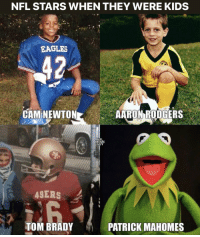 Aaron Rodgers, Cam Newton, and Philadelphia Eagles: NFL STARS WHEN THEY WERE KIDS  EAGLES  CAM NEWTON  AARON RODGERS  UY  4SERS  TOM BRADY  PATRICK MAHOMES 💀💀💀 https://t.co/fvqco5Ooj5