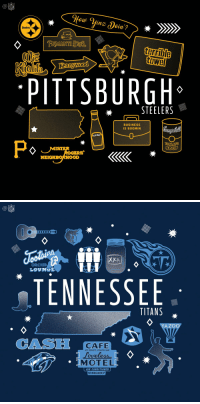 AFC North meets AFC South.  @Titans vs. @steelers.   TONIGHT on @nflnetwork + NBC + @AmazonVideo! (8pm ET) #TENvsPIT #TNF https://t.co/x4yC7je1jz: NFL  Steelers  terrible  hn  PITTSBURGH  STEELERS  BUSINESS  IS BOOMIN  HEINZ  OMATO  ERS  NEIGHBORHOOD   NFL  ORCHID  LOUNGE  TENNESSEE  TITANS  YAZOC  CAS  CAFE  HOT BISCUITS, COUNTRY HAM  MOTEL  AIR CONDITIONED  NOVACAncy AFC North meets AFC South.  @Titans vs. @steelers.   TONIGHT on @nflnetwork + NBC + @AmazonVideo! (8pm ET) #TENvsPIT #TNF https://t.co/x4yC7je1jz