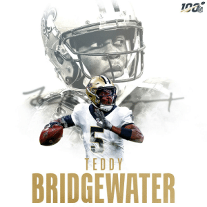The @Saints are 3-0 under QB Teddy Bridgewater after his 314 yards + 4 TD day! 👏  @teddyb_h2o | #Saints https://t.co/vZ4kgQl34N: NFL  TEDDY  BRIDGEWATER The @Saints are 3-0 under QB Teddy Bridgewater after his 314 yards + 4 TD day! 👏  @teddyb_h2o | #Saints https://t.co/vZ4kgQl34N