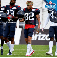 Adidas, Memes, and Nfl: NFL  TRAINING  C A M P  xfinity  ity  2018  xfinity  TOXANS  adidas The @Mathieu_Era begins in Houston. 🍯  #NFLTrainingCamp https://t.co/qGVS35jYrb
