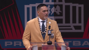 """Thank you for making me a better player.""  @KevinMawae shouts out @Patriots coach Bill Belichick for the challenges he presented during his @nyjets career. #PFHOF19 https://t.co/I3ldJQq10O: NFL  VFLN  ALLOFFAM  PR  TBA ""Thank you for making me a better player.""  @KevinMawae shouts out @Patriots coach Bill Belichick for the challenges he presented during his @nyjets career. #PFHOF19 https://t.co/I3ldJQq10O"