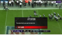 Nfl, Lost, and Game: NFL  YAHOO  ATTENTION  The connection to your peer has been lost.  x EXIT GAME  , BAL 0でJAX 37 3RD 0:21 18 4TH & 1 The Ravens quit https://t.co/sreCgNAPVt
