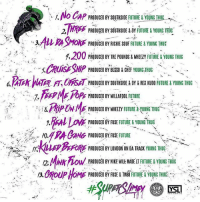 """Bailey Jay, Future, and Memes: nfloCap PRODUCEDBYSOUTHSIDEFUTURE&YOUNG!HUG  3  ASMOE PROIUCED BY RICHEOUFFYOUN THU  1,200 PRODUCED BY TRE POUNDS & WHEEZY FUTURE &YOUNG THUG  CRUiE SHP INE HN  FT, OKM PRODUCED BY SOUTHSIDE & DY & REX KUDO FUTURE & YOUNG THUG  7. EFYME POPE PRODUCED BY WILLAFDOL FUTURE  ti &min nk PRODUCED BY WHEEZY FUTURE&( UNG THUG-e-ve  2:  PRODUCED BY FUSE FUTURE&YOUNGTHIUG  ' . /7Ru4P),foRE PRODUCEDBYLONDONONDA TRACK YOUNG THUG,  12 MNKDOW PRODUCED BY MIKE WILE MADEUTUREYOUNG THUG How are y'all feeling that Future & YoungThug """"Super Slimey"""" mixtape? Comment your favorite song below! 👇🔥💯 @Future @ThuggerThugger1 WSHH"""