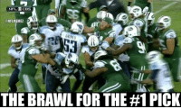 New York, New York Jets, and Nfl: NFLOCBS  CONFLMEMEZ  THE BRAWL FOR THE #1 PICK New York Jets vs. Tennessee Titans BRAWL! #TankForMariota Credit: Steve Dotzel  #Jets Nation #Titans Nation