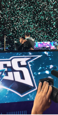 Memes, Superbowl, and 🤖: .@NFoles_9 & @cj_wentz share a moment as @SuperBowl Champions.  #SBLII #FlyEaglesFly https://t.co/1ttLE1y0up