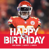 Happy 30th Birthday to @Chiefs safety @Stuntman1429! 🎉🎉🎉 https://t.co/Pk9bFUMwXE: NFT  BIRTDAY  ERIC BERRY | SAFETY | CHIEFS Happy 30th Birthday to @Chiefs safety @Stuntman1429! 🎉🎉🎉 https://t.co/Pk9bFUMwXE