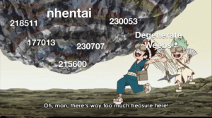 Anime, Too Much, and One Piece: nhentai  230053  218511  Degenerate  Weebs  177013  230707  215600  Oh, man, there's way too much treasure here! This treasure is more valuable than the One piece