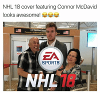 Any hockey fans out there????: NHL 18 cover featuring Connor McDavid  looks awesome!  US Destined Passe  Passagers a destination d  EA  SPORTS  NHL Any hockey fans out there????