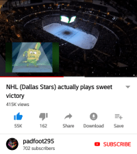 NHL (Dallas Stars) actually plays sweet  victory  415K views  55K  162  Share Download Save  padfoot295  702 subscribers  SUBSCRIBE