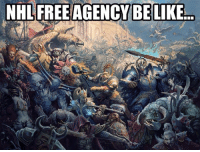 Happy Free Agency Day!!!! At Noon EST, get ready for the chaos!! Oh, and Happy Canada Day!  -cut: NHL FREE AGENCY BE LIKE Happy Free Agency Day!!!! At Noon EST, get ready for the chaos!! Oh, and Happy Canada Day!  -cut