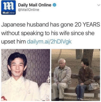 Alexa play I'm Upset by Drake 😠: ni  Daily Mail Online  @MailOnline  mailOnline  Japanese husband has gone 20 YEARS  without speaking to his wife since she  upset him dailym.ai/2hDIVgk Alexa play I'm Upset by Drake 😠
