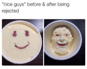 """Nice, Nice Guys, and Guys: """"nice guys"""" before & after being  rejected"""