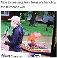 Bye red state: Nice to see people in Texas are handling  the hurricane well  ARRIS CauNTI Bye red state