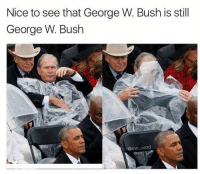 Funny, George W. Bush, and Girl Memes: Nice to see that George W. Bush is still  George W. Bush  @mo wad Nice meme @mo_wad