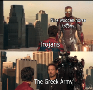 2 at price of 1: Nice wooden horse  trophy  Trojans  The Greek Army 2 at price of 1