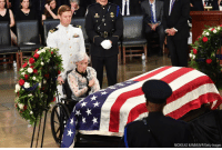Memes, Getty Images, and Images: NICHOLAS KAMM/AFP/Getty Images Roberta McCain, age 106, mother of John McCain, approaches the casket during the ceremony honoring the late U.S. senator in the Rotunda of the U.S. Capitol in Washington, D.C.
