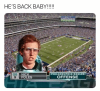 Philadelphia Eagles, Nfl, and Nick: NICK  FOLES  PHILADELPHIA EAGLES  OFFENSE