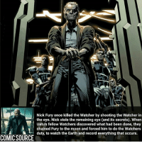 He can watch but can't do nothing about it. that sucks _____________________________________________________ - - - - - - - DrStrange Spiderman Wolverine Logan Gotg Groot SpidermanHomecoming Deadpool Ironman StarWars DarthVader Yoda Hulk CaptainAmerica Daredevil Avengers Shield Thor BlackWidow BlackPanther Marvel Comics MarvelComics ComicFacts Facts Like4Like Like Superman Batman: Nick Fury once killed the Watcher by shooting the Watcher in  Uatu's fellow Watchers discovered what had been done, they  chained Fury to the moon and forced him to do the Watchers  AZ duty, to watch the Earth and record everything that occurs  COMIC SOURCE He can watch but can't do nothing about it. that sucks _____________________________________________________ - - - - - - - DrStrange Spiderman Wolverine Logan Gotg Groot SpidermanHomecoming Deadpool Ironman StarWars DarthVader Yoda Hulk CaptainAmerica Daredevil Avengers Shield Thor BlackWidow BlackPanther Marvel Comics MarvelComics ComicFacts Facts Like4Like Like Superman Batman