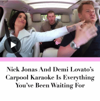 Link in bio.: Nick Jonas And Demi Lovato's  Carpool karaoke Is Everything  You've Been Waiting For Link in bio.