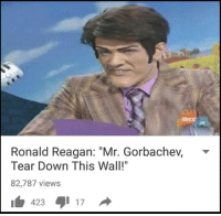 """<p>Have I missed the chance to sell this meme? via /r/MemeEconomy <a href=""""http://ift.tt/2kF7DMt"""">http://ift.tt/2kF7DMt</a></p>: NicK  Ronald Reagan: """"Mr. Gorbachev, *  Tear Down This Wall!""""  82,787 views  1 423 1 17 <p>Have I missed the chance to sell this meme? via /r/MemeEconomy <a href=""""http://ift.tt/2kF7DMt"""">http://ift.tt/2kF7DMt</a></p>"""