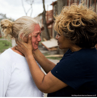 "Complex, Memes, and American: Nick Wagner/Austin American-Statesman via AP ""We got to be strong, baby."" A woman comforts her lifelong friend outside of an apartment complex in Refugio, Texas."
