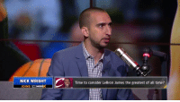 Funny, LeBron James, and Lebron: NICK WRIGHT  JOINS  THE HERD  Time to consider LeBron James the greatest of all time? Lebron The 🐐 https://t.co/h3R1VHX5oa