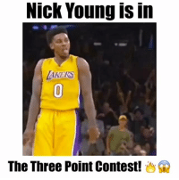 Los Angeles Lakers, Memes, and Nick Young: Nick Young is in  The Three Point Contest! @swaggyp1 is in the three point contest! 🔥😱 - Follow @latesthighlights for more! - via (@lakers)