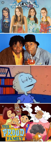 Family, Funny, and Nickelodeon: NICKELODEON.  101   PROUD  FAMILY I remember a simpler time when Zoey curved chase,when orange soda was like crack,when babies talking was normal,& Wizard Kelly had no face 😭 https://t.co/zSkWQGi9FI