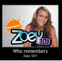 Memes, Nickelodeon, and Zoey 101: NICKELODEON  101  Who remembers  Zoey 101?