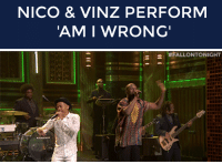 """Target, Help, and Http: NICO & VINZ PERFORM  AM I WRONG   - <p><a href=""""http://www.nbc.com/the-tonight-show/segments/8851"""" target=""""_blank"""">Nico &amp; Vinz performed &ldquo;Am I Wrong&rdquo;</a> with a little help from The Roots!</p>"""