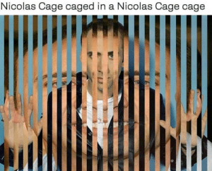 Dank, Memes, and Nicolas Cage: Nicolas Cage caged in a Nicolas Cage cage Comedy cemetery by Grabowski98 FOLLOW HERE 4 MORE MEMES.